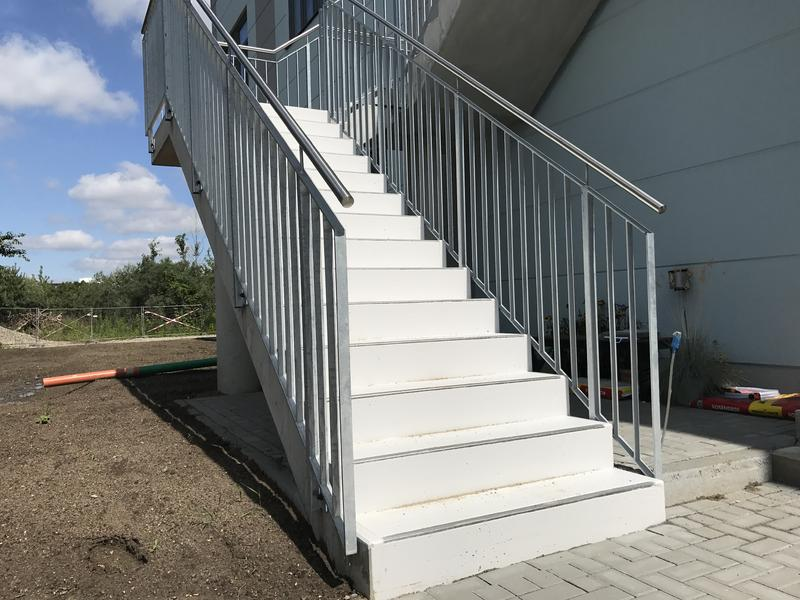 Treppe und Treppengeländer